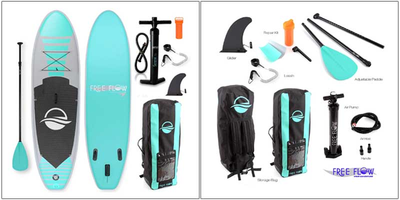 SerenLife Inflatable Premium Stand Up Paddle Board