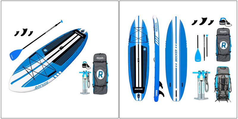iROCKER All-Around Inflatable Stand Up Paddle Board